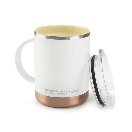 Asobu - White 12 Oz Insulated Ultimate Coffee Mug