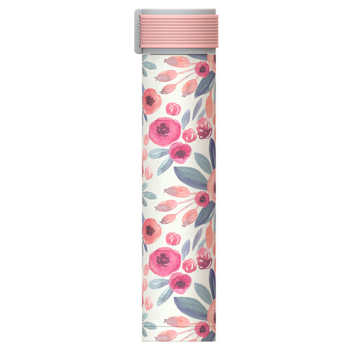 Asobu - Floral 8 Oz Skinny Mini Insulated Travel Bottle