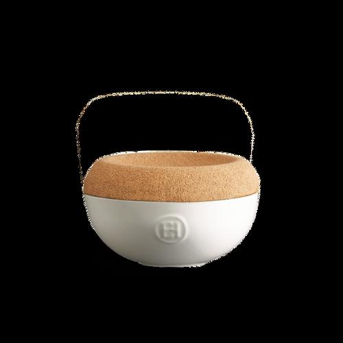 Emile Henry - Blanc Craie 1L Garlic Pot