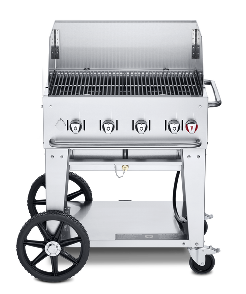 """Crown Verity - 30"""" Natural Gas Mobile Outdoor Grill With Winguard"""