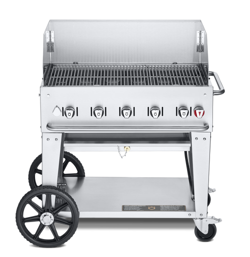 """Crown Verity - 36"""" Natural Gas Mobile Outdoor Grill With Winguard"""