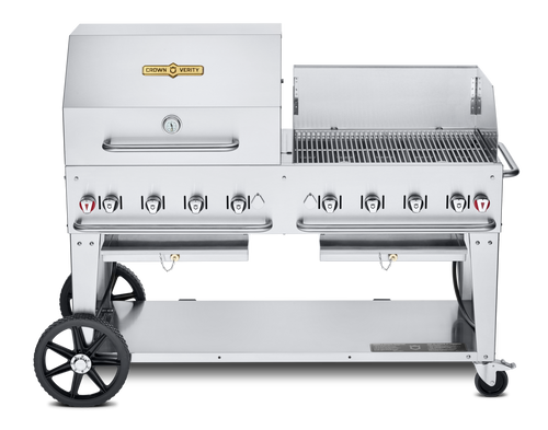 """Crown Verity - 60"""" Natural Gas Combo BBQ & Outdoor Grill With Windguard"""