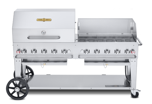 """Crown Verity - 72"""" Natural Gas Combo BBQ & Outdoor Grill With Windguard"""