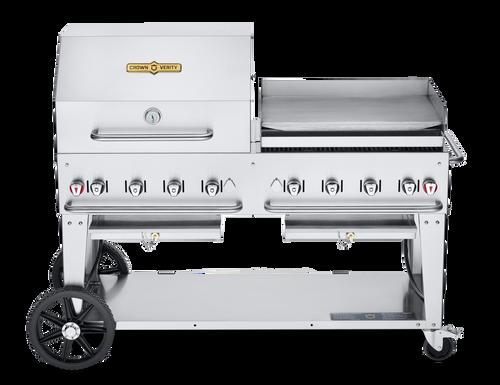 "Crown Verity - 60"" Liquid Propane Combo BBQ & Outdoor Griddle"