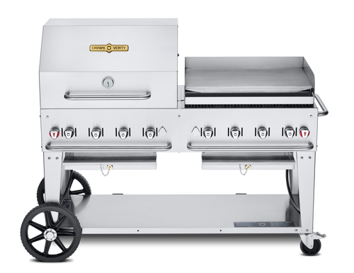 """Crown Verity - 60"""" Natural Gas Combo BBQ & Outdoor Griddle"""