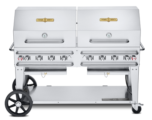 """Crown Verity - Pro Series 60"""" Liquid Propane BBQ With 2 Roll Domes"""