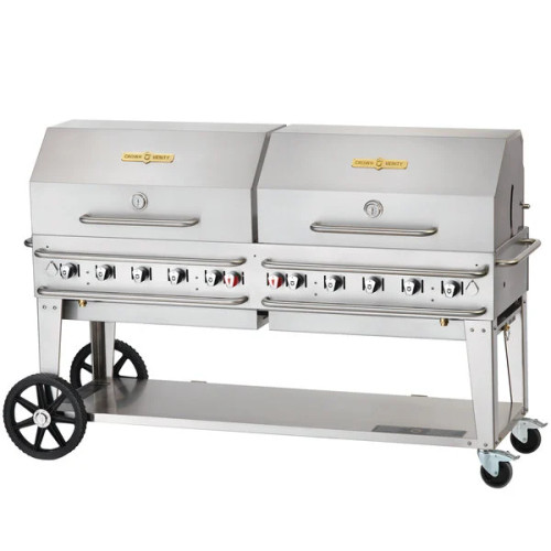"""Crown Verity - Pro Series 72"""" Liquid Propane BBQ With 2 Roll Domes"""