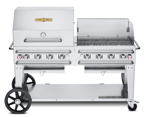 """Crown Verity - Pro Series 60"""" Liquid Propane Combo BBQ & Outdoor Grill With Windguard"""