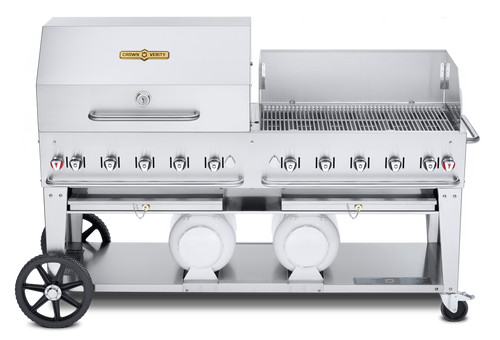 """Crown Verity - Pro Series 72"""" Liquid Propane Combo BBQ & Outdoor Grill With Windguard"""