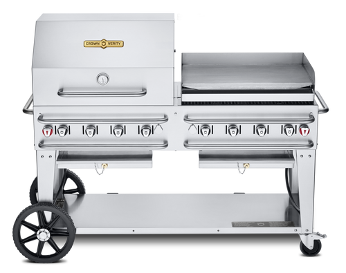 """Crown Verity - Pro Series 60"""" Liquid Propane Combo BBQ & Outdoor Griddle"""