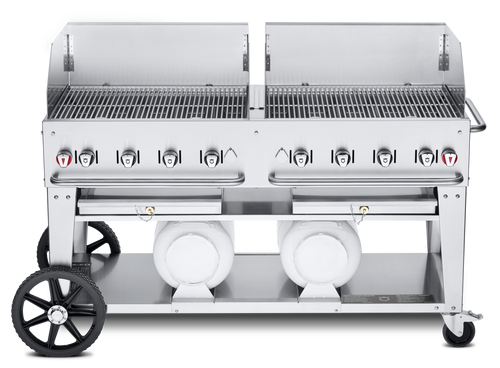 """Crown Verity - Club Series 60"""" Liquid Propane Mobile Outdoor Grill With Windguard"""