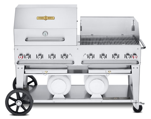 """Crown Verity - Club Series 60"""" Liquid Propane Combo BBQ & Outdoor Grill With Windguard"""