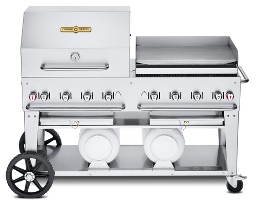 """Crown Verity - Club Series 60"""" Liquid Propane Combo BBQ & Outdoor Griddle"""