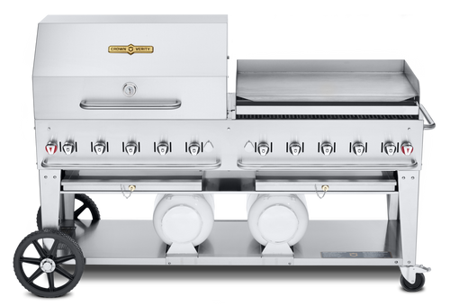 """Crown Verity - Club Series 72"""" Liquid Propane Combo BBQ & Outdoor Griddle"""