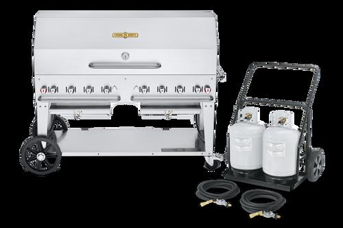 "Crown Verity - Club Series 60"" Liquid Propane BBQ With Remote Propane Cart"