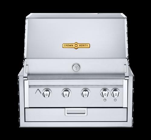 "Crown Verity - 30"" Natural Gas Infinite Series Built In BBQ"