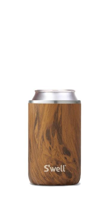 S'Well - Teakwood Drink Chiller (Fits 12 Oz Cans & Bottles)