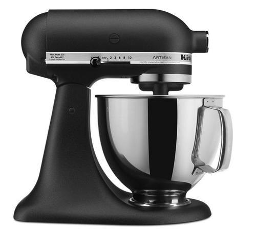 KitchenAid -  Cast Iron Black 5QT Artisan Series Tilt Head Stand Mixer