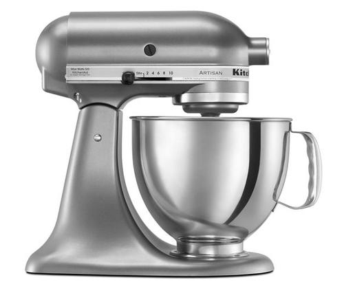 KitchenAid -  Contour Silver 5QT Artisan Series Tilt Head Stand Mixer