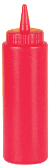 Johnson-Rose - 16 Oz. Wide Mouth Red Plastic Squeeze Bottle - 6908