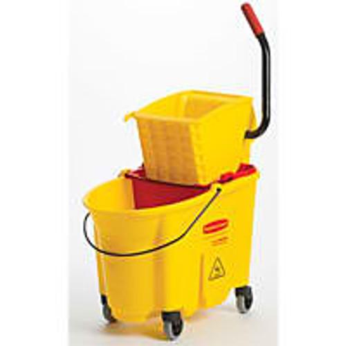Rubbermaid - (Wave Break) Bucket 7570 & Wr.6127 Yellow - 7580-88YEL