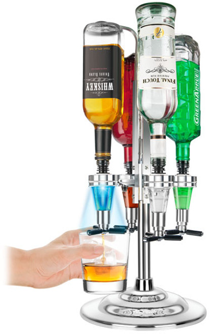 Final Touch - LED Illuminated 4 Bottle Liquor Tree - FTA1815