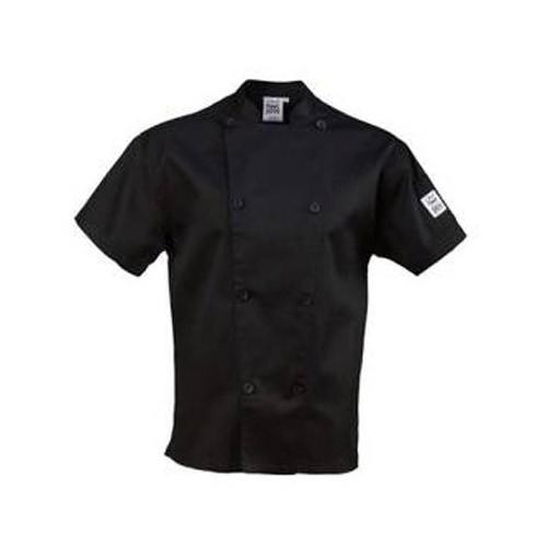 Chef Revival - Large Performance Black Short Sleeve Chef Coat