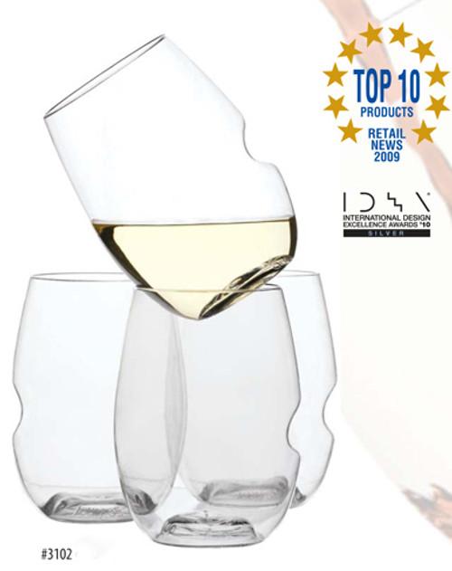 BMM Marketing - GoVino, Plastic Stemless Wine Glass, Single - 3102