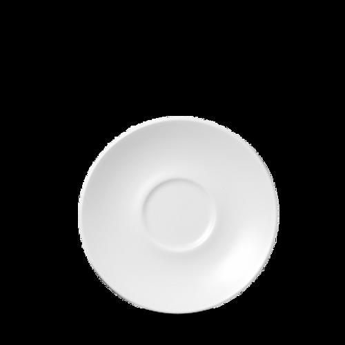 """Churchill - Café 6.25""""  White Saucer - 24/Case"""
