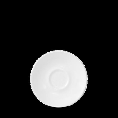 """Churchill - Latte 4.5"""" White Saucer - 24/Case"""