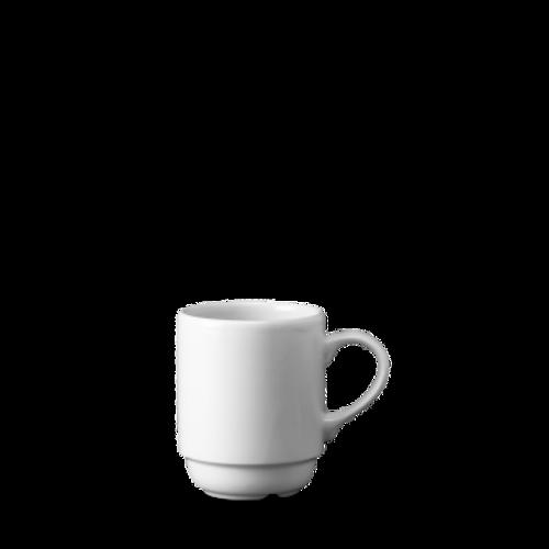 Churchill - White Holloware 10 oz Stacking Mug - 24/Case