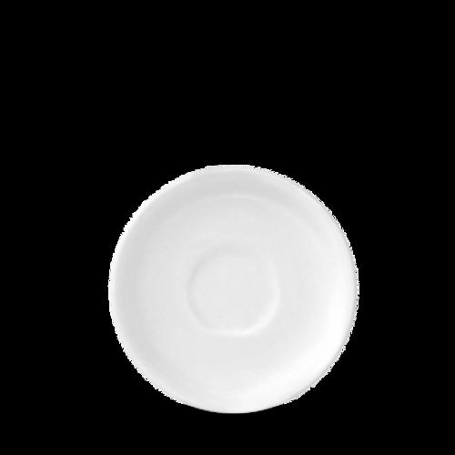 """Churchill - White Holloware 5.5"""" Saucer - 24/Case"""