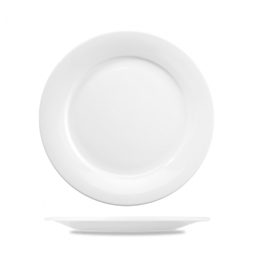 "Churchill - Art De Cuisine 10"" White Round Plate - 6/Case"
