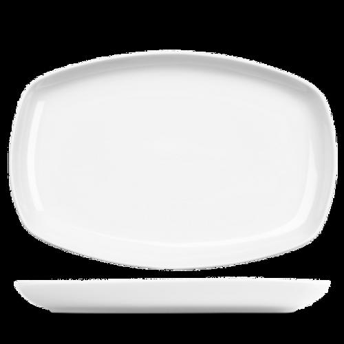 "Churchill - Art De Cuisine 14"" x 9.25"" White Rectangular Plate - 6/Case"