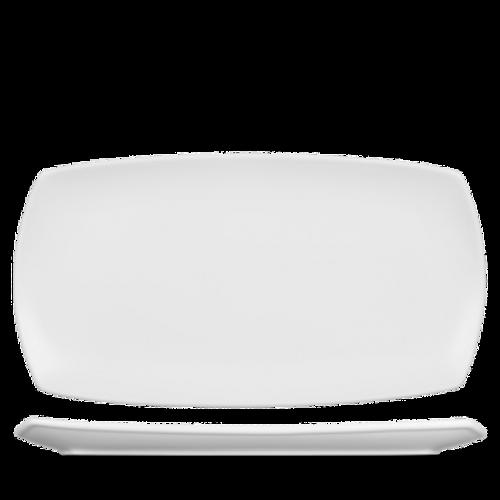"Churchill - Art De Cuisine 14"" x 7.5"" White Rectangular Plate - 6/Case"