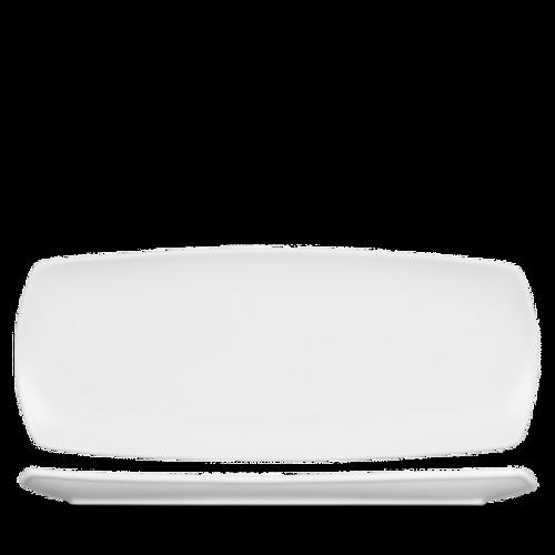 "Churchill - Art De Cuisine 14"" x 5.75"" White Rectangular Plate - 6/Case"