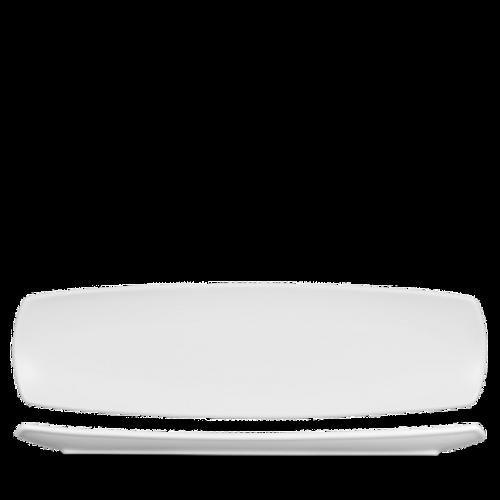 "Churchill - Art De Cuisine 14"" x 4"" White Rectangular Plate - 6/Case"