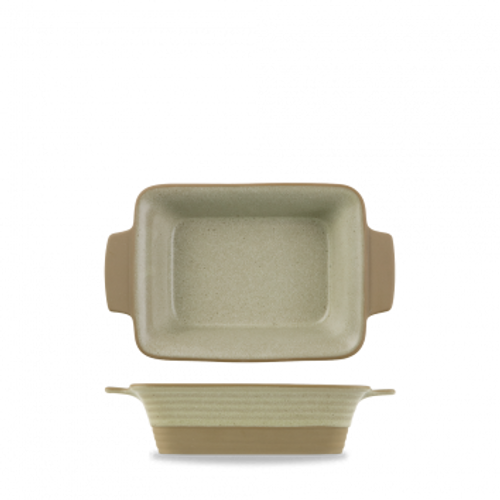 Churchill - Igneous 17 oz Igneous Natural Rectangular Dish - 6/Case