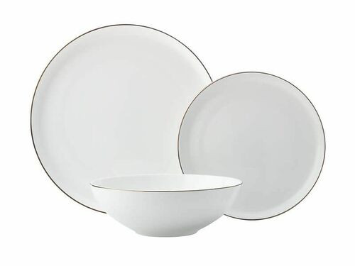 Maxwell & Williams - Luxe 12 Pc Dinner Set Gold Rim