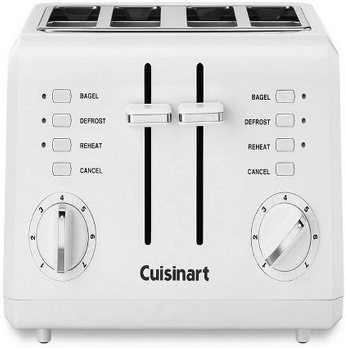 Cuisinart - White Compact 4-Slice Toaster