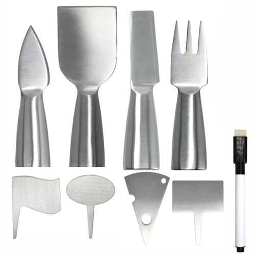 Danesco - Natural Living 9-piece Deluxe Cheese Tool Set