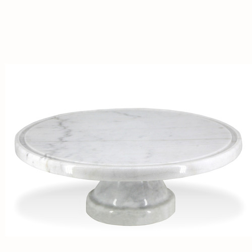 Natural Living Marble Pedestal Cake Stand