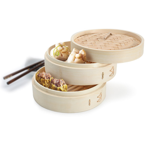 Zen Cuizine -2-tier Bamboo Steamer