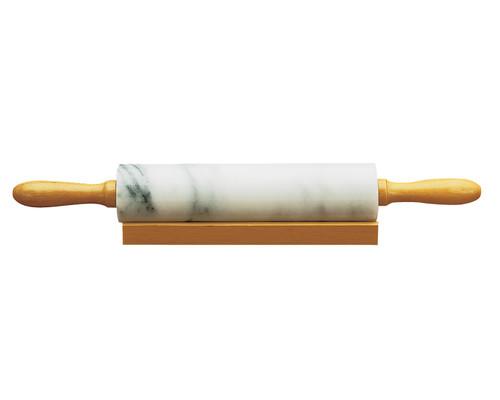 Fox Run - White Marble Rolling Pin w/Wood Base - 4050
