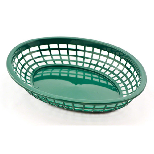 Tablecraft - Basket, Oval Forest Green Jumbo 11.75' x 9' x 2'  - 1084FG
