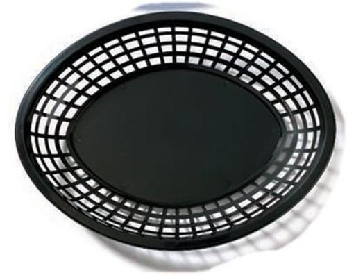 Tablecraft - Basket, Oval Black 12.75' x 9.5' x 1.5' - 1086BK