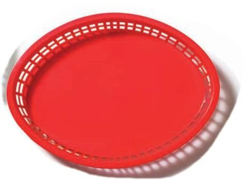 Tablecraft - Basket, Oval Red 12.75' x 9.5' x 1.5' - 1086R