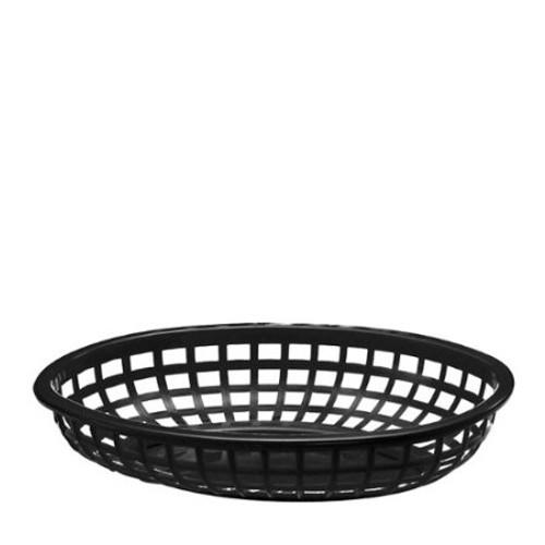 Tablecraft - Basket, Oval Black 9.5' x 6' x 2' - 1074BK