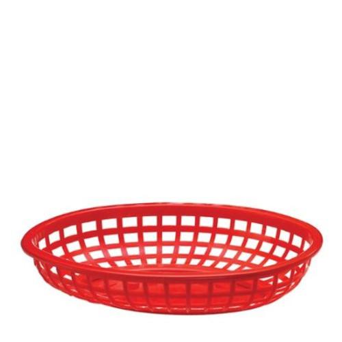 Tablecraft - Basket, Oval Red 9.5' x 6' x 2' - 1074R