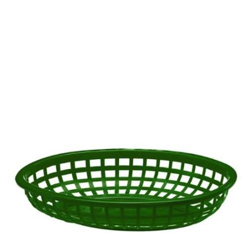Tablecraft - Basket, Oval Forest Green 9.5' x 6' x 2' - 1074FG